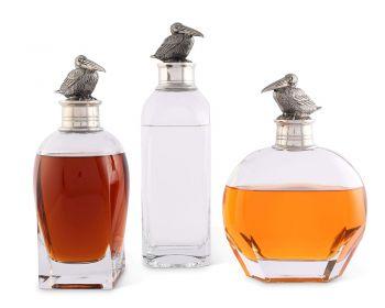 pelican detail on pelican liquor decanter