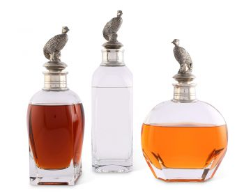 Vagabond House Pheasant Liquor decanters