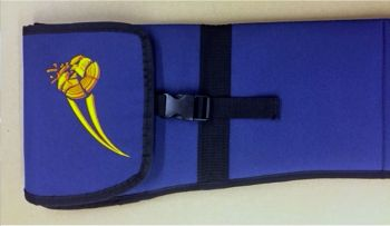Victory Clay Nylon Padded Shotgun Sleeve showing Buckle Closure