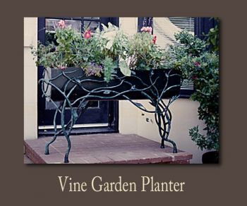 Vine Garden Metal Planter by John Boyd Smith