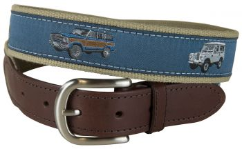 Vintage 4 x 4 Leather Tab Belt by Belted Cow