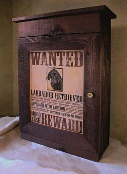 Wanted: Labrador Retriever Sportsman's Wall Cabinet - Bruce Mrachek