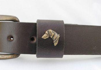 """Weimaraner Head Belt by Royden leather Belts - 1 1/2"""" wide"""