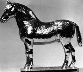 Welsh Cob Hood Ornament or Car Mascot by Louis Lejeune comes in chrome, bronze, enamel or gold plated