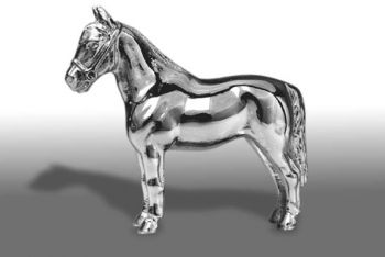 Welsh Pony Hood Ornament or Car Mascot by Louis Lejeune comes in chrome, bronze, enamel or gold plated