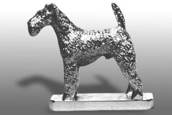 Welsh Terrier Hood Ornament or Car Mascot by Louis Lejeune comes in chrome, bronze, enamel or gold plated