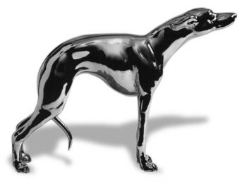 Whippet Hood Ornament or Car Mascot by Louis Lejeune comes in chrome, bronze, enamel or gold plated