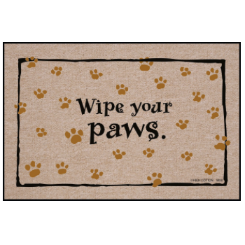 Wipe Your Paws Doormat from High Cotton