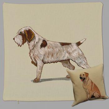 Wirehaired Pointer Griffon Throw Pillow Zeppa Studios
