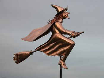 Witch Copper Weathervane by Barry Norling