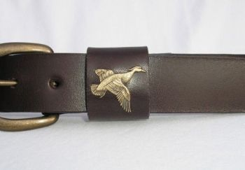 Wood Duck Leather Belt by Royden Leather Belts