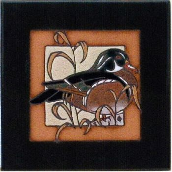 Wood Duck 6 x 6 ceramic tile by Maanum Custom Tiles