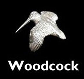 Woodcock Sterling Silver Cufflinks by Louis Lejeune