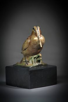 Timberdoodle is a bronze sculpture of a Woodcock by Ronnie Wells