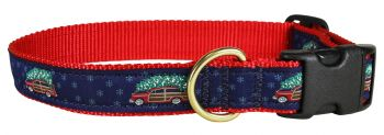 Woodie and Tree is a 1 inch dog collar by Belted Cow