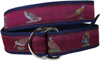 Belted Cow Burgundy D Ring Belt by Belted Cow
