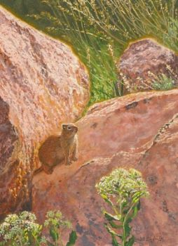 Wyoming Ground Squirrel miniature watercolor painting by Wes Siegrist