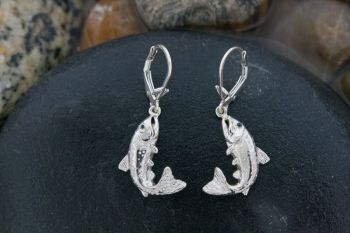 Yellowstone Cutthroat Trout Dangle earrings