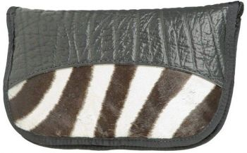 Zebra and Cape Buffalo Hide Handgun Case