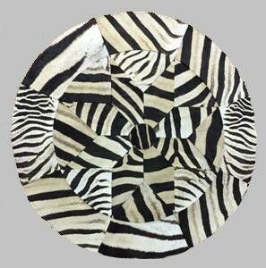 "Zebra Hide Circular Rug - 50"""