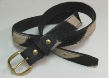 Zebra Hide Men's Belt