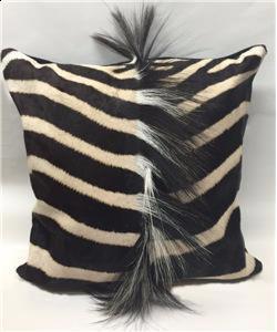 Zebra Skin Mane Pillow - Front