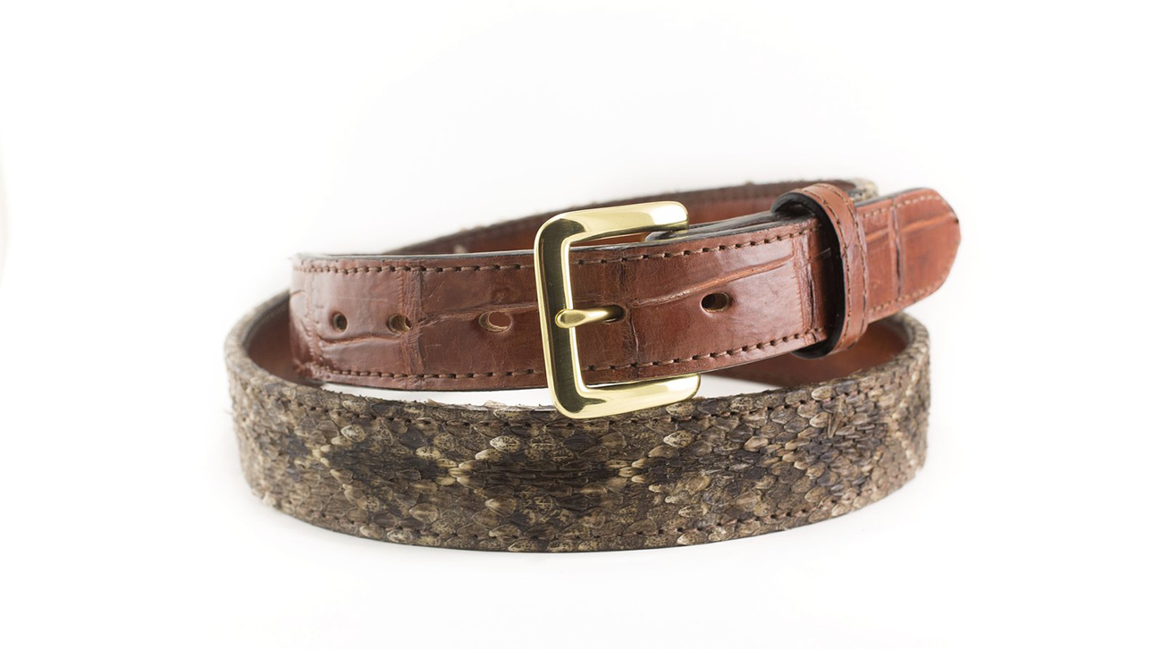 Alligator Diamondback Rattlesnake Belt - Bull & Briar Leather